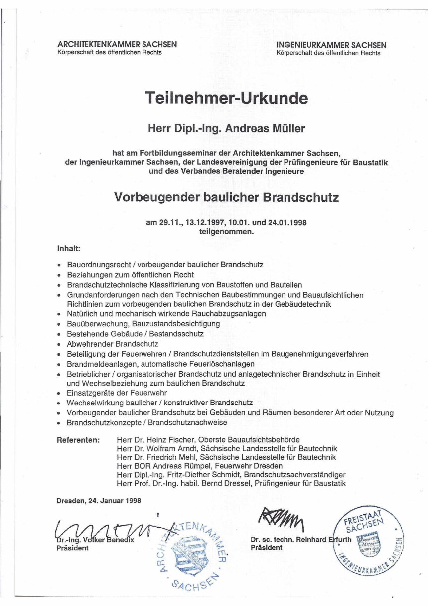 Andreas Müller Chemnitz brandschutz mueller chemnitz brandschutzplanung brandschutzkonzepte
