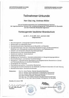 Brandschutzbüro-Brandschutzplaner-Ingenieurbüro|Brandschutzplanung-und-Brandschutzkonzepte-aus-Chemnitz-Sachsen/Bild:Urkunde-Brandschutzsachverständiger/Ersteller:Dipl.-Ing.-Andreas-Müller