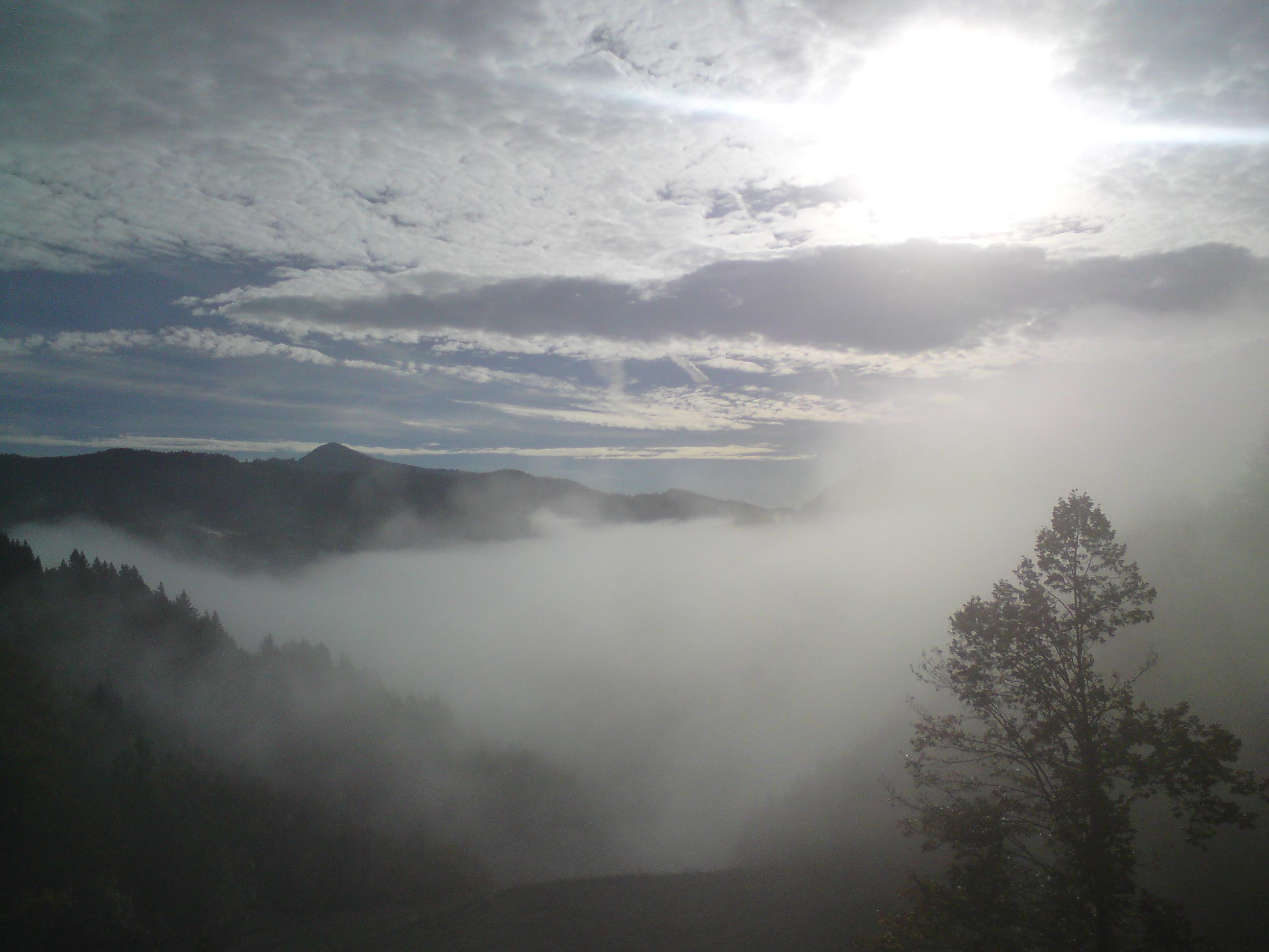 Blind im Nebel
